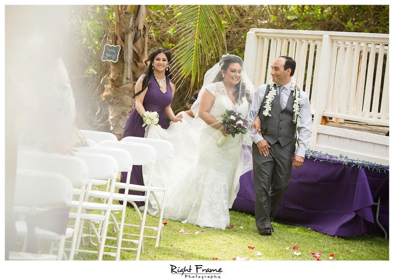 Wedding at Nani Kai Hale Beach House Oahu Hawaii