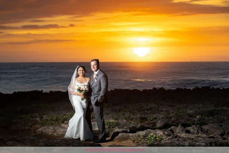 Turtle Bay Wedding Photos Oahu Hawaii Sunset Photo Session