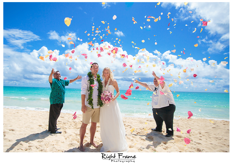 Destination Wedding in Waimanalo Bay