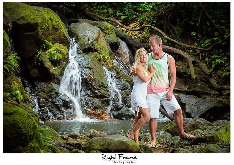 Waterfall Bamboo forest Oahu Hawaii