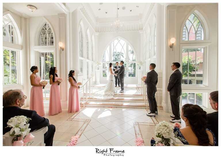 Ocean Crystal Chapel Wedding Hilton Hawaiian Village
