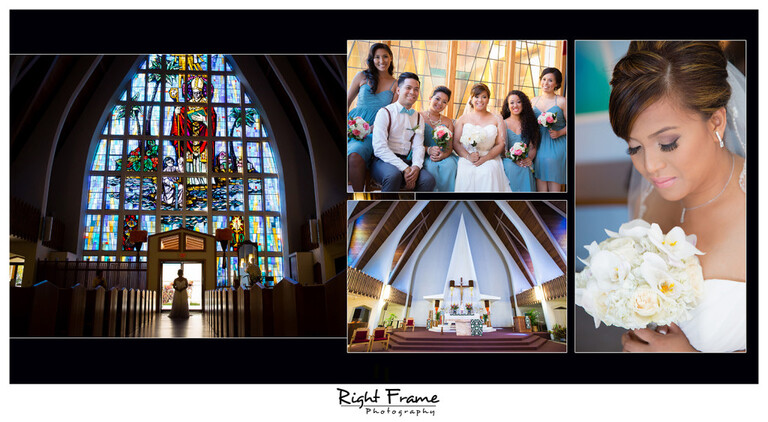 Hawaii Catholic Church Wedding St Augustine by the Sea Parish Waikiki Photographer