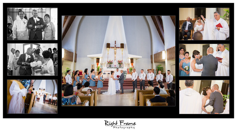 Hawaii Catholic Church Wedding Ceremony St Augustine by the Sea Parish Waikiki Photographer