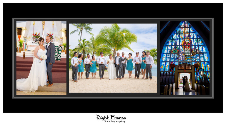 Hawaii Church Wedding Ceremony St Augustine by the Sea Parish Waikiki Photography