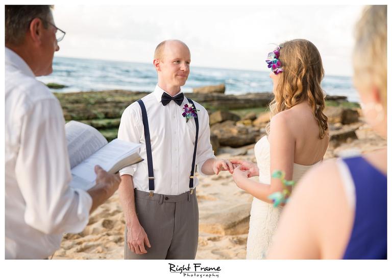 Papailoa Beach Wedding on North Shore Oahu Hawaii