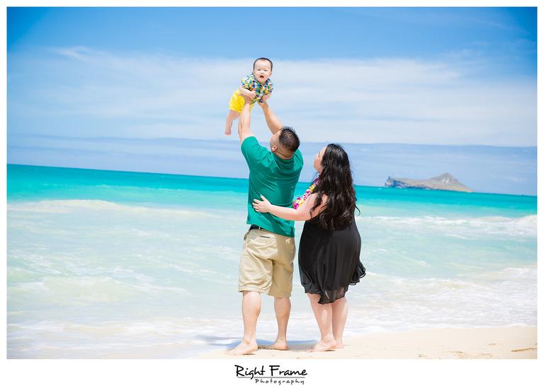 First Birthday Photography at Beach Oahu Hawaii