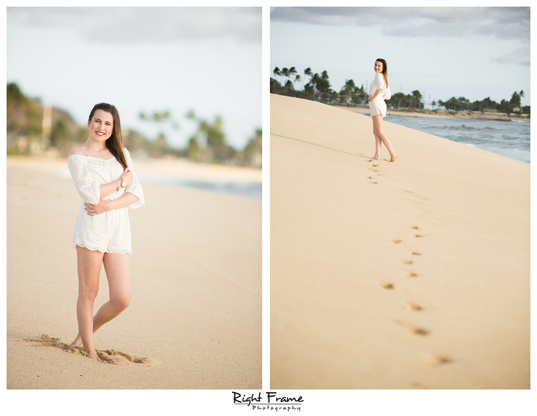Hawaii Sunset Senior Portraits Photography