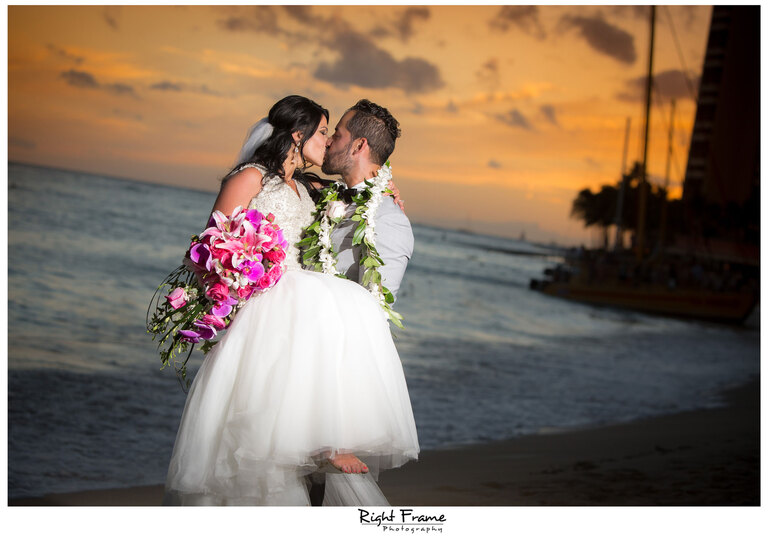 Wedding at Moana Surfrider Hotel Waikiki