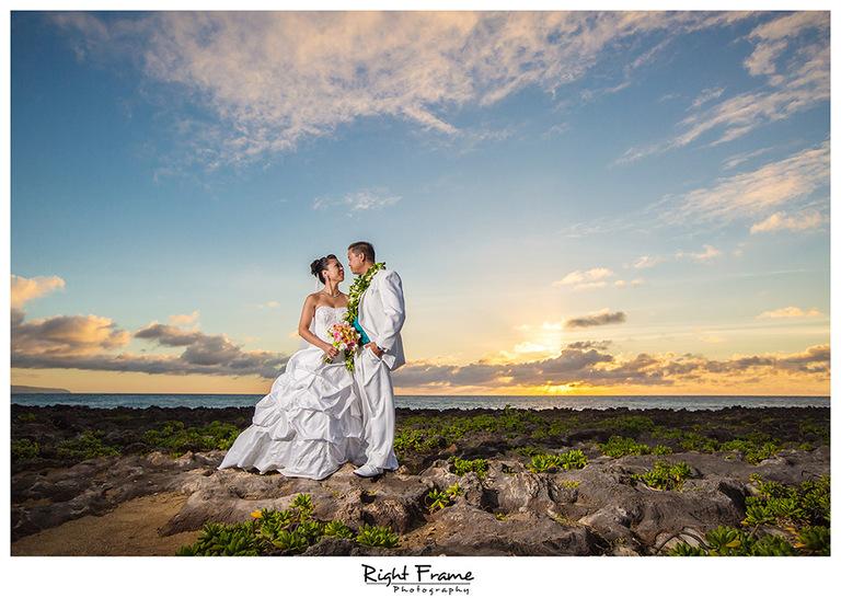 Sunset Wedding in Turtle Bay Resort