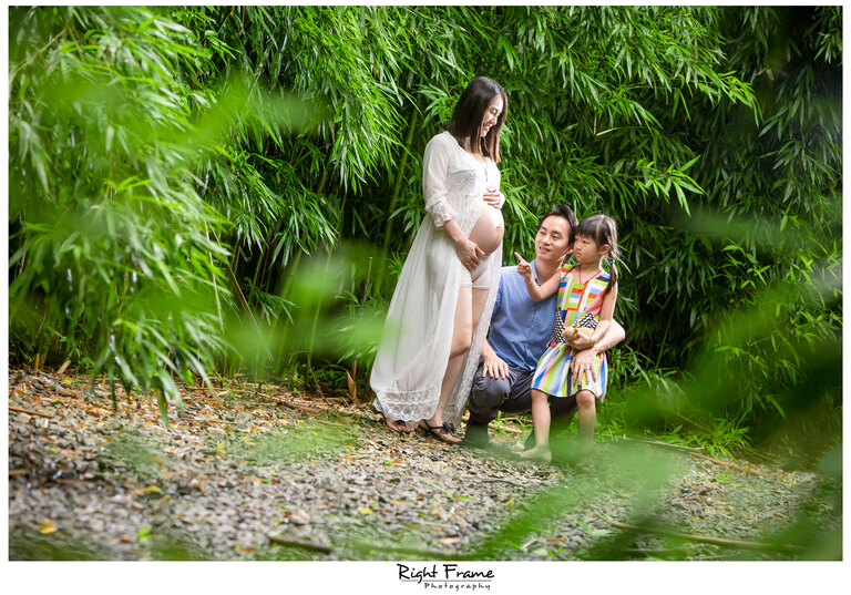 Hawaii Maternity Photography in Bamboo Forest