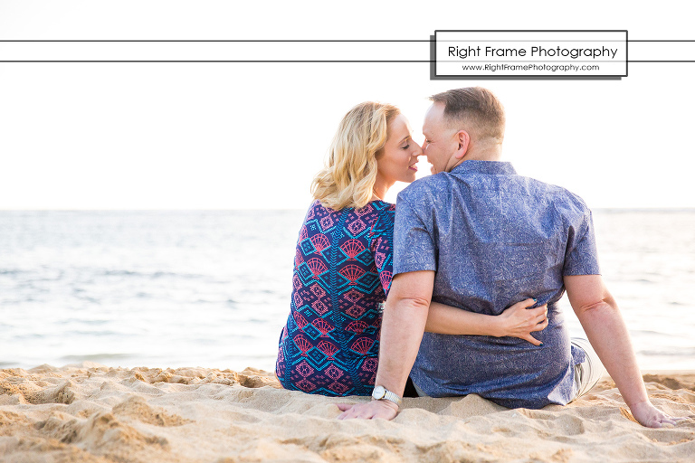 Sunset Engagement Pictures on Waikiki Beach