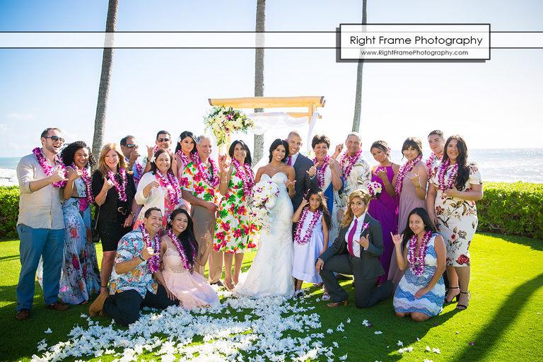 Beautiful Paradise Cove Wedding Ko Olina Hawaii
