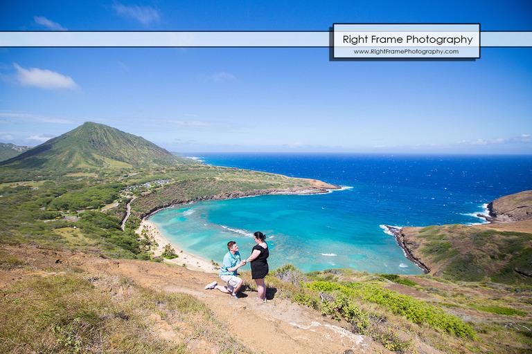 Surprise Hiking Proposal at Hanauma Bay Trail Oahu