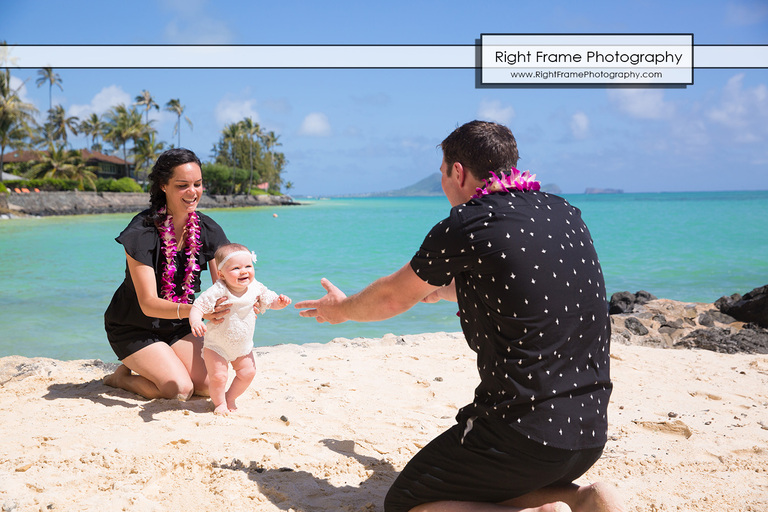 Family Portrait Session at Lanikai Beach Oahu