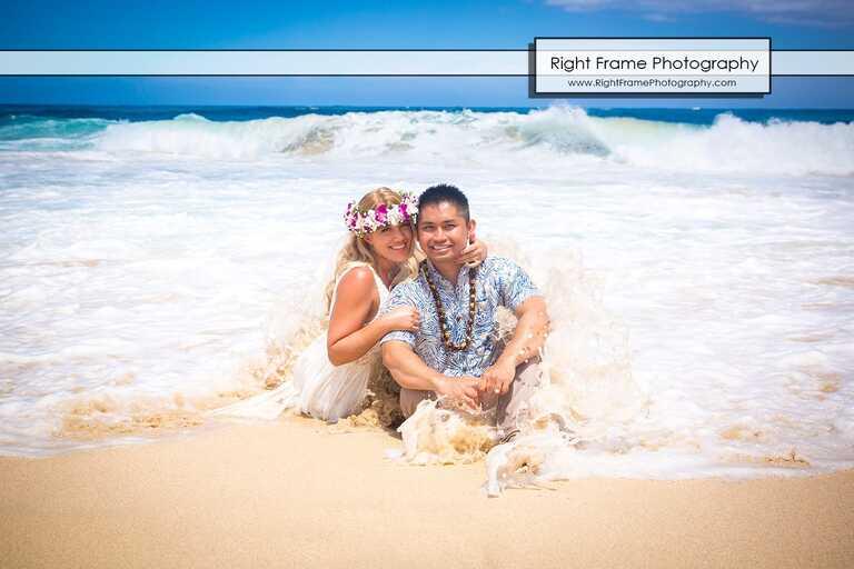 Beach Engagement Photos in Hawaii Oahu