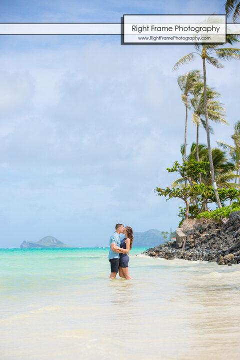 Lanikai Beach Engagement Session Oahu Hawaii