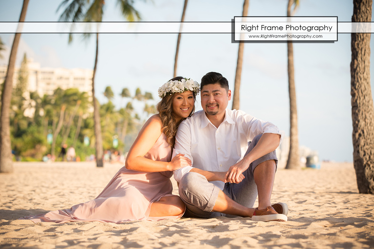 Engagement Photos near The Modern Honolulu Hotel Waikiki Beach