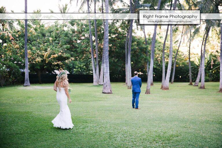 Hale Koa Wedding First Look Waikiki Honolulu