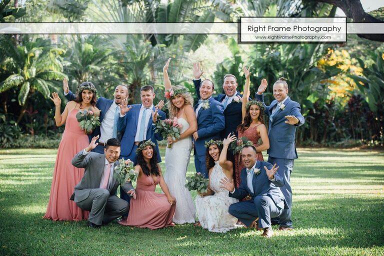 Hale Koa Hotel Garden Wedding Pictures Honolulu Hawaii Bridal Party