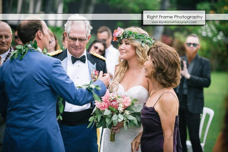Father Mother Hale Koa Wedding Pictures