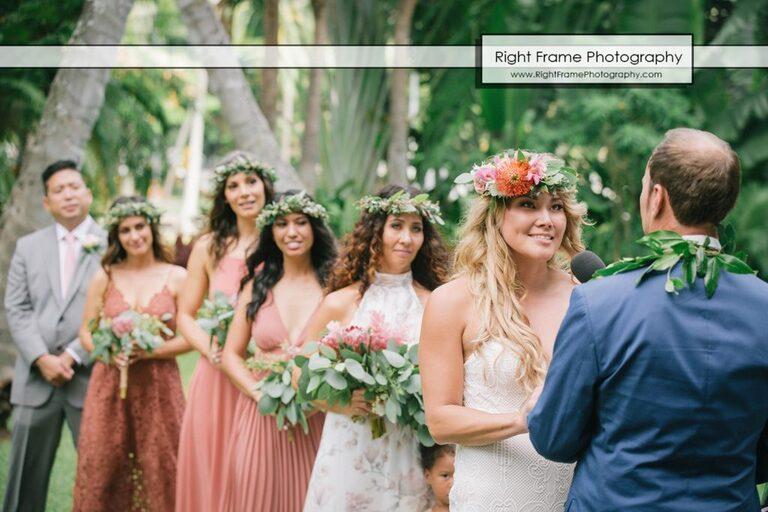 Bridesmaids in Hale Koa Wedding Pictures