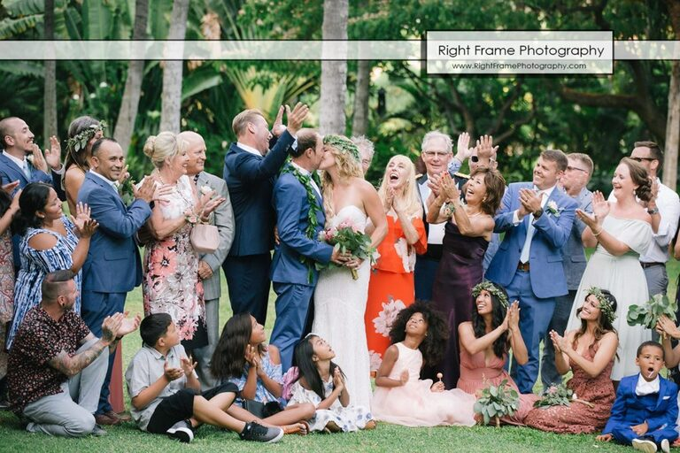 Hale Koa Wedding Pictures with Guest Family