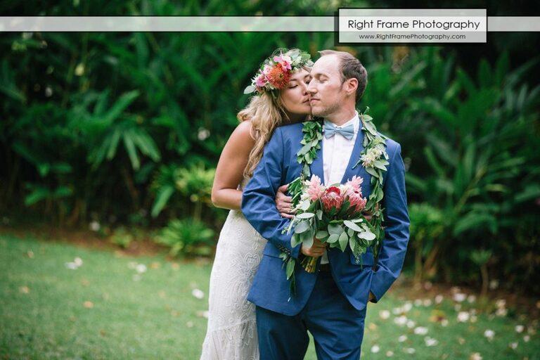 Hale Koa Hotel Garden Wedding Pictures First Look Waikiki Honolulu