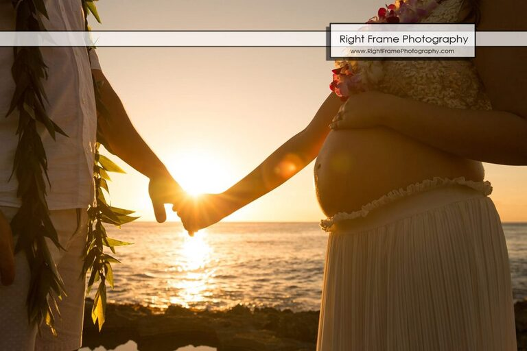 affordable Oahu Maternity Photographer Hawaii Photography photos sunset Honolulu