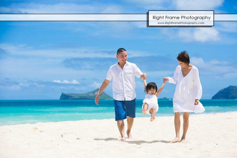Oahu Family Portrait Bellows Beach Hawaii