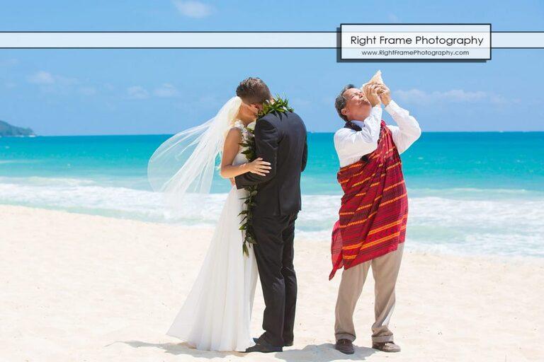 Waimanalo Beach Wedding Small and Intimate Oahu Sherwood Forest Hawaii Reverend Kimo Taylor