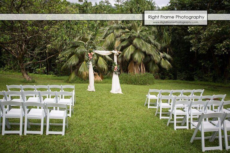Hoomaluhia Botanical Garden Wedding Kaneohe Oahu Hawaii arch