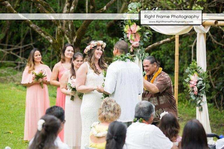 Hoomaluhia Botanical Garden Wedding Kaneohe Oahu Hawaii Reverend Elias Parker
