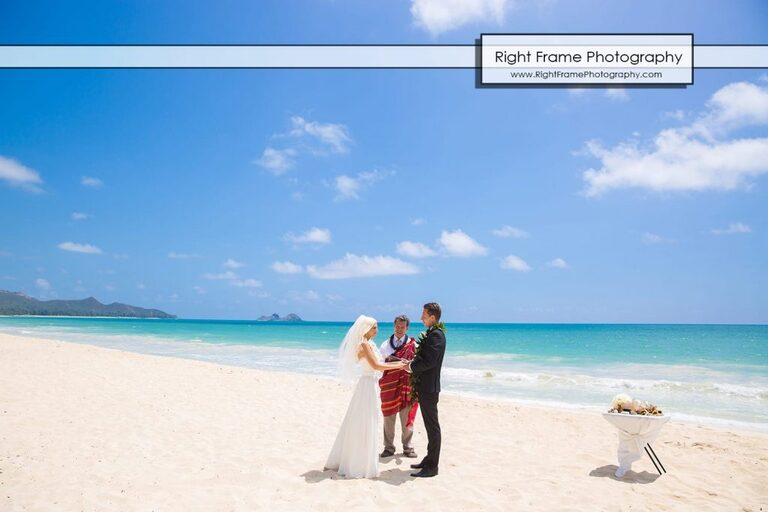 Wedding Waimanalo Beach Small and Intimate Oahu at  Sherwood Forest Hawaii Reverend Kimo Taylor