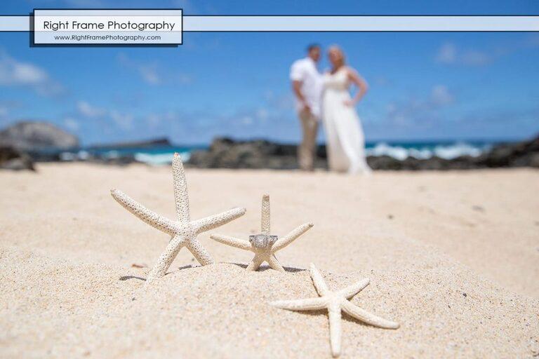 Engagement Photos Oahu Makapuu Beach Lookout Hawaii ring