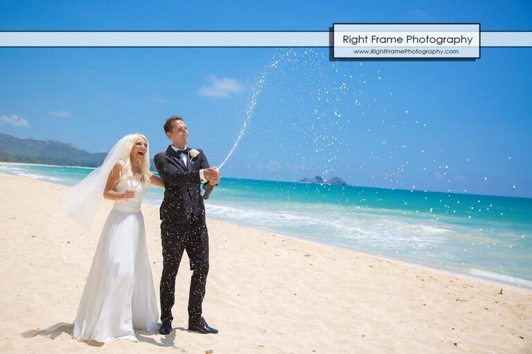 Wedding Waimanalo Beach Small and Intimate Oahu Bay Sherwood Forest Hawaii