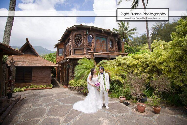 Oahu Waterfall Wedding at Pukalani Falls Garden Hobbit House