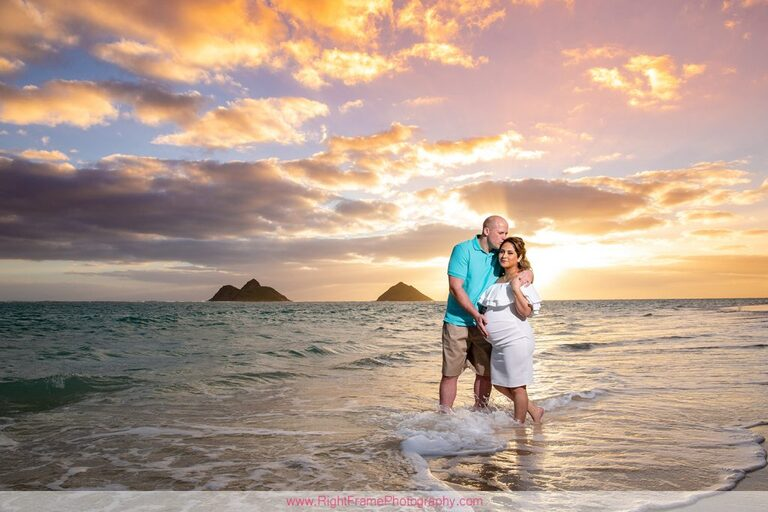 Maternity Photography Oahu LANIKAI BEACH