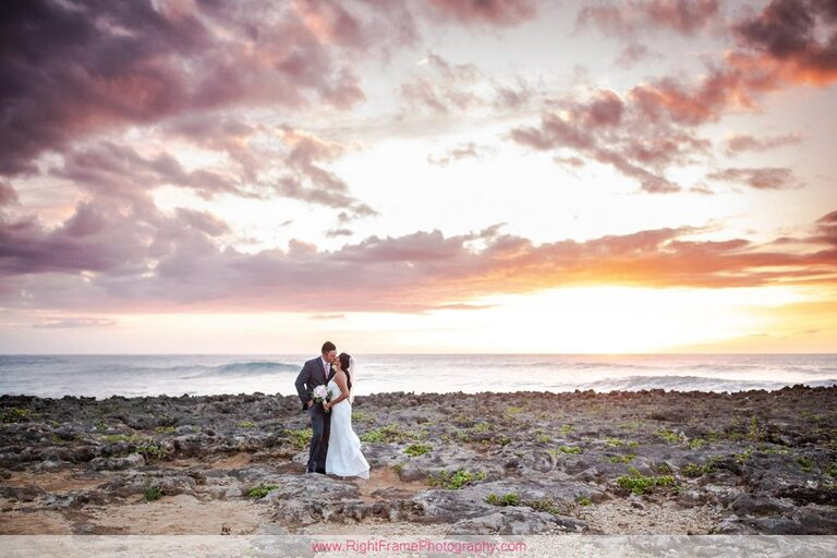 Turtle Bay Wedding Photos Oahu Hawaii