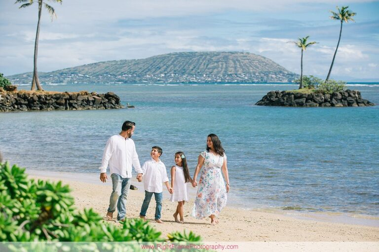 Last Minute Family Photo Shoot at Kahala Beach Oahu