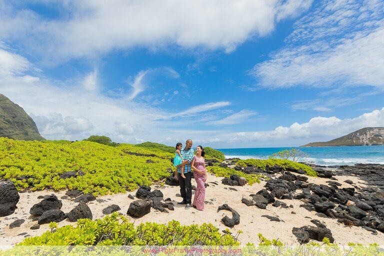 Pregnancy Announcement Photographers Oahu Hawaii