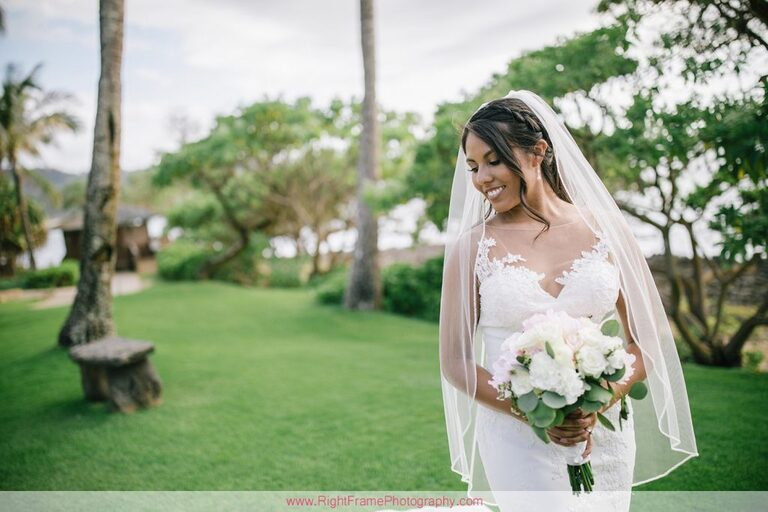 Turtle Bay Wedding Photos Oahu Hawaii Pavilion Bride Portrait Photo Session