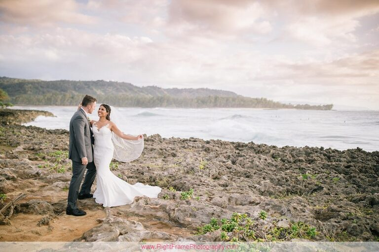 Turtle Bay Wedding Photos Oahu Hawaii Pavilion Couple Photo Session