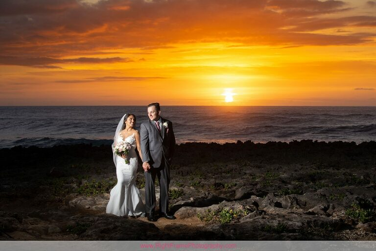 Turtle Bay Wedding Photos Oahu Hawaii Sunset Photo Session