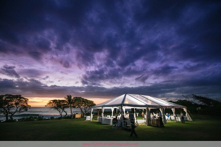 Turtle Bay Wedding Reception Photos Oahu Hawaii Sunset Tent Outdoor Venue