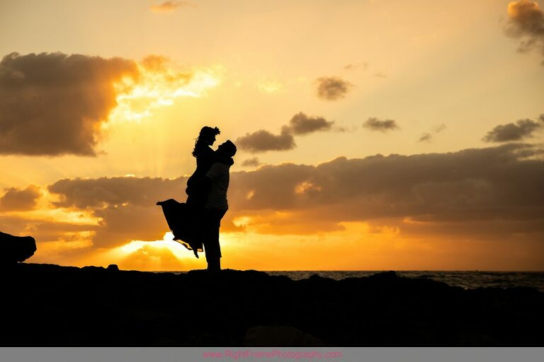 Engagement Session near Four Seasons Resort Ko Olina Sunset
