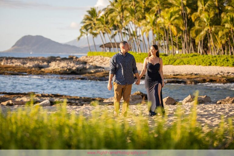 Hawaii Engagement Photoshoot at Secret Beach Ko Olina