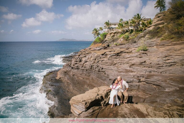 Hawaii Anniversary Photoshoot Photos Pictures Photography Spitting Caves Cliff