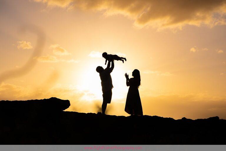 Family Photographers in Ko olina Hawaii Sunset