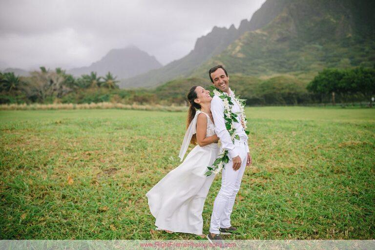 Kualoa Beach Park Couples Photography Photographer Oahu Hawaii
