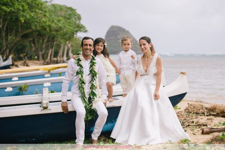 Kualoa Beach Park Family Photography Photographer Oahu Hawaii Canoe
